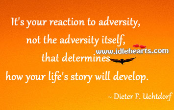 It's Your Reaction To Adversity, Not The Adversity Itself