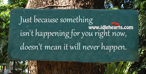Something isn't happening for you right now Image