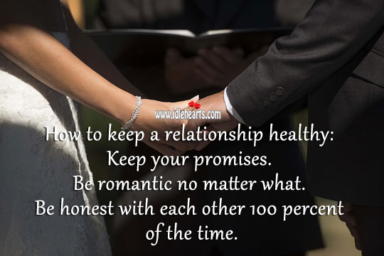 Image, Ways to keep a relationship healthy.