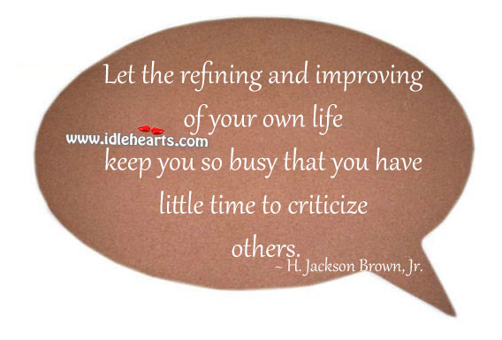 Improving Of Your Own Life