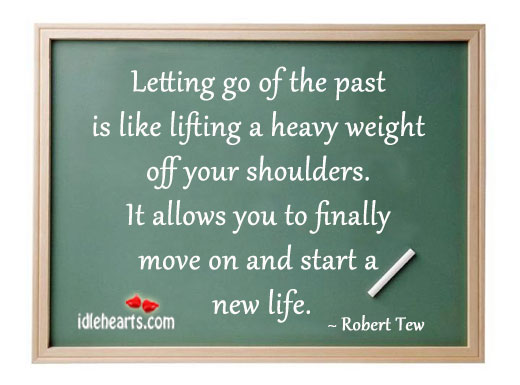 Image, Letting go of the past is like lifting a heavy weight off