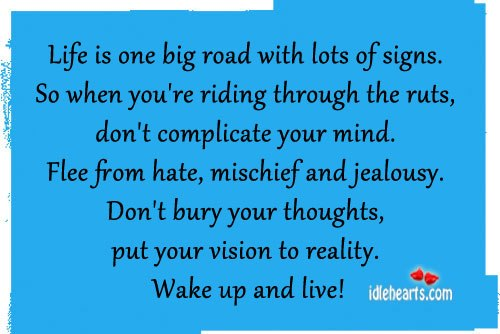 Life is one big road with lots of signs. Image