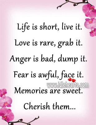 Memories Are Sweet. Cherish Them…