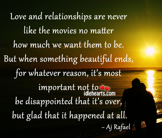 Image, Love and relationships are never like the movies no matter