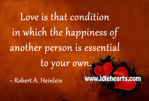 Love is in the Happiness of Your Loved One