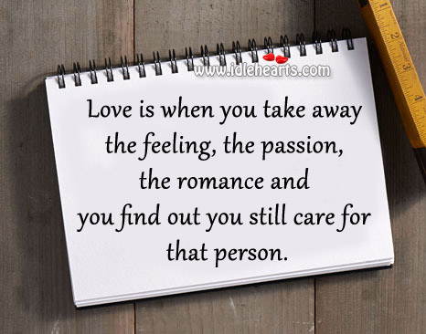 Find out you still care for that person. Image