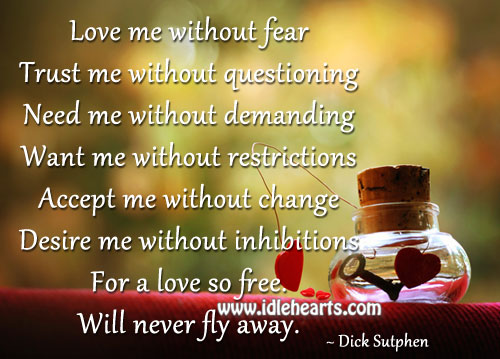 Love will Never Fly Away!
