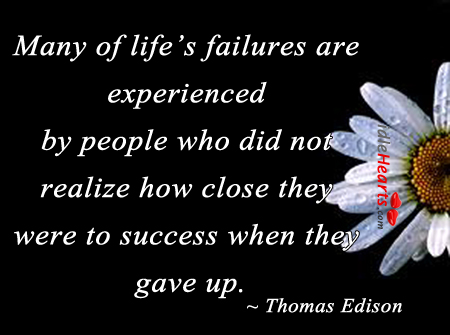 Many of life's failures are experienced by people. Image