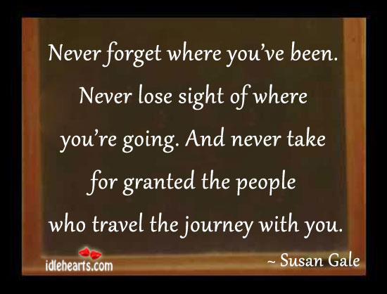 Image, Never forget where you've been.