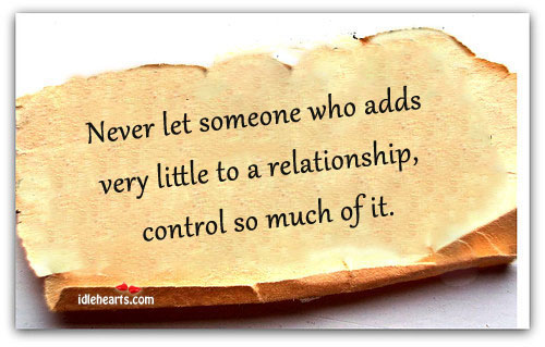 Never Let Someone Who Adds Very Little…