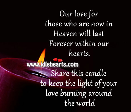 Our love for those who are now in heaven will last forever Image