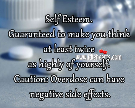 Caution: overdose can have negative side effects. Image