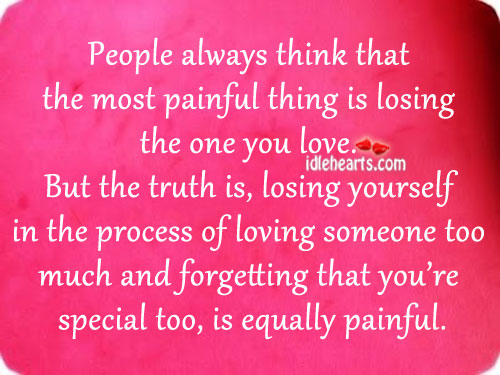 People always think that the most painful thing is losing love Image