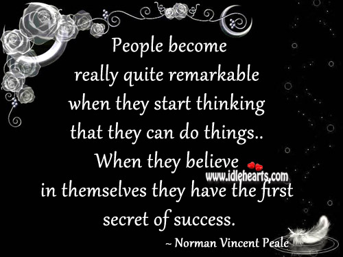 People become really quite remarkable when they start thinking Image