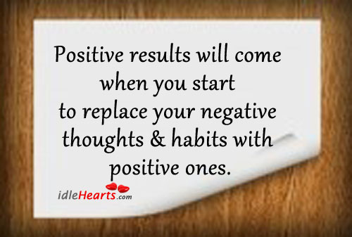 Positive results will come when you start… Image