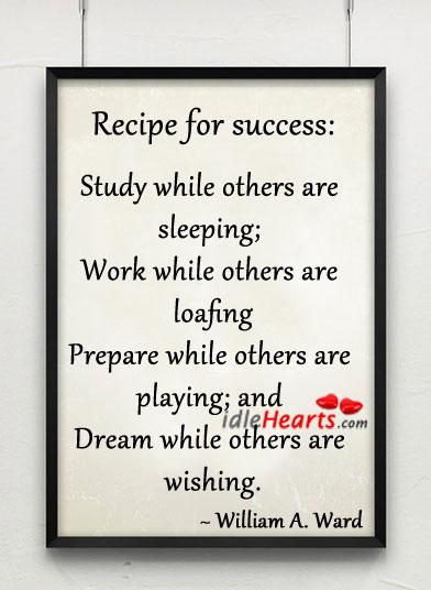 Recipe for success Image