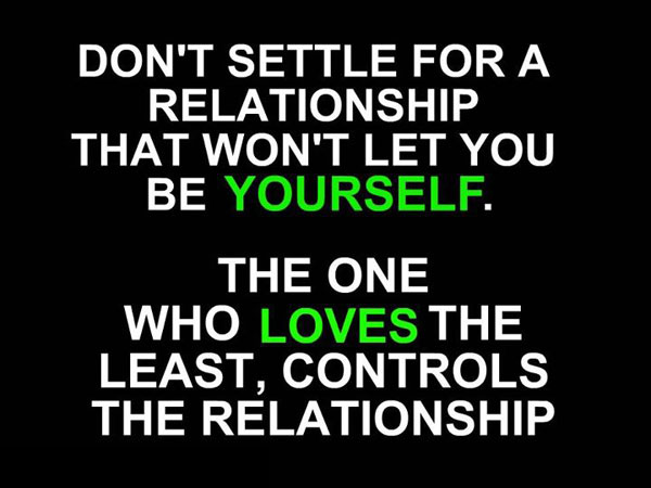 Image, Don't settle for a relationship that won't let you be yourself