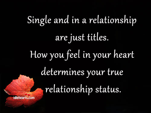 feel single in relationship