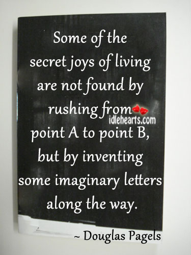 Some Of The Secret Joys Of Living Are Not…