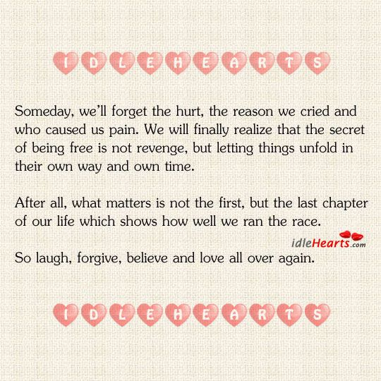 The Last Chapter of Our Life Shows How Well We Ran The Race