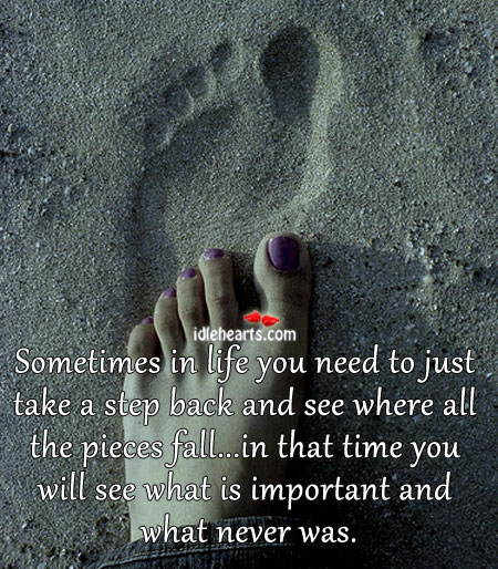 Sometimes In Life You Need To Just Take A….