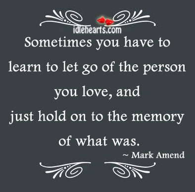 Sometimes You Just Have To Let Go Of The….