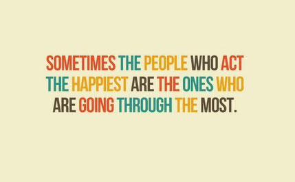 The people who act the happiest. Image