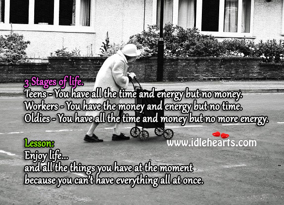 Image, The stages of life