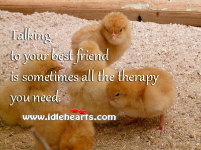 Talking to your best friend Image