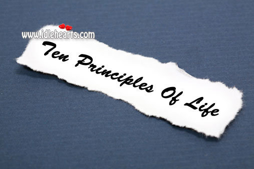 Ten principles of life Image