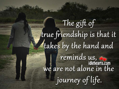 The gift of true friendship Image