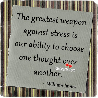 The Greatest Weapon Against Stress Is…