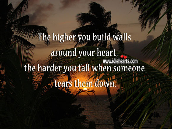 Image, Don't build walls around your heart