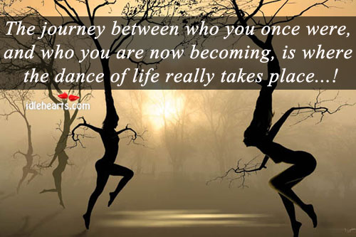 The Journey Between Who You Once Were….