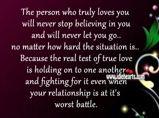 The real test of true love is holding on to one another. Image