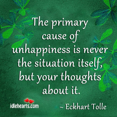 Its the thoughts of situation… The reason for unhappiness Image