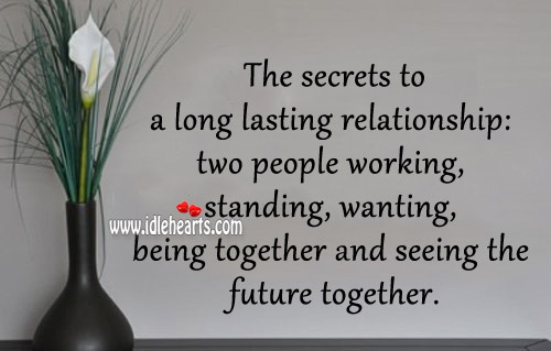 secret of long lasting relationship