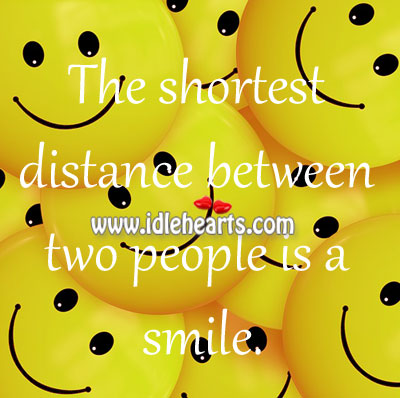Shortest distance between two people Image