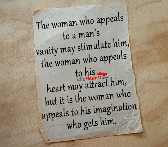 Image, The woman who appeals to a man's