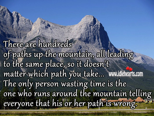 It Doesn't Matter Which Path You Take