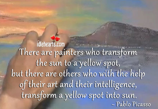 Image about There are painters who transform the sun to a yellow spot