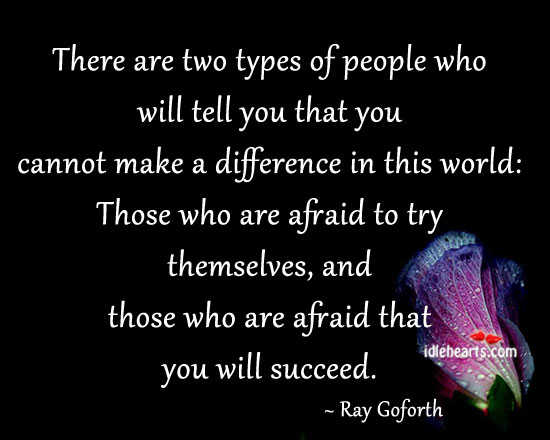 There Are Two Types Of People Who Will Tell You…