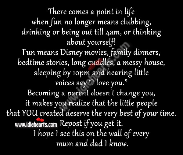 Becoming A Parent Doesnt Change You It Makes You Realize