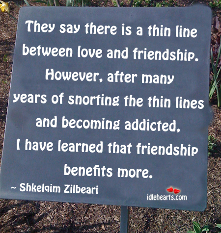 They Say There Is A Thin Line Between Love…