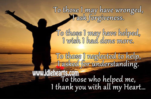 I Thank You With All My Heart.