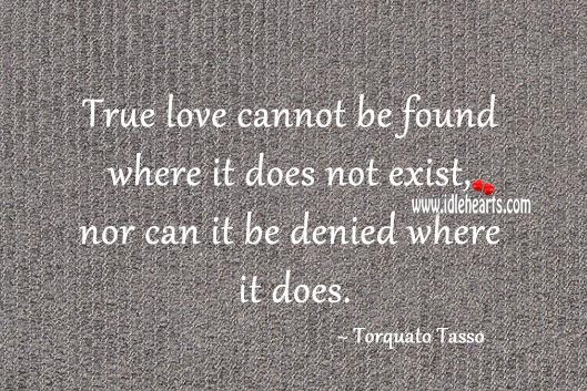 Image, True love cannot be found where it does not exist