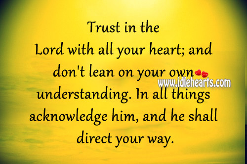 Image, Trust in the lord with all your heart