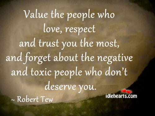 Image, Value the people who love, respect and trust you the most