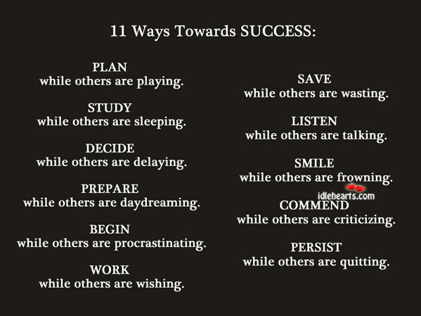Image, 11 ways towards success