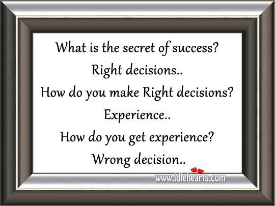 What is the secret of success? Image